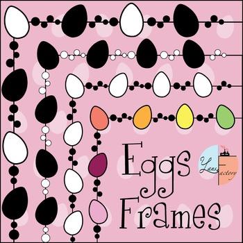 Easter Eggs Frames / Borders < Freebie >
