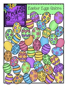 Easter Eggs Galore {Creative Clips Digital Clipart}