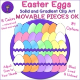 Easter Eggs Halves and Whole Eggs Movable Clip Art
