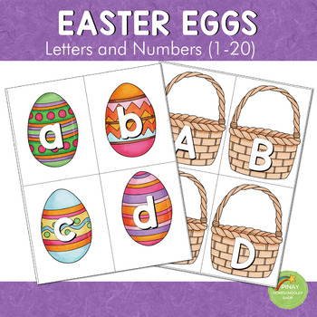 Easter Eggs Letter and Number Cards
