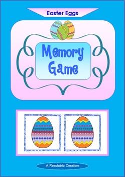 Easter Eggs Memory Card Game