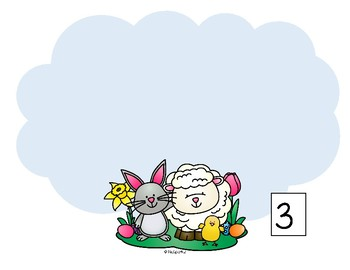 Easter Eggs Number Mats 1-10 and Emergent Reader Cut and Paste