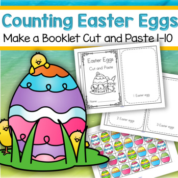 Easter Eggs Numbers Cut and Paste Booklet for Preschool and Pre-K