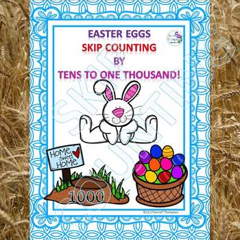 "Easter Eggs ""Skip Counting Flash Cards"" (By 10)"