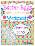 Easter Eggs Themed Practice Writing Missing Numbers Worksheets (1-100)