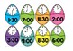 Easter Eggs Time to the Hour and Half Hour Puzzles