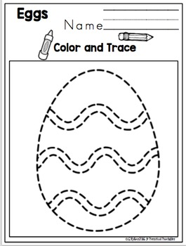 Easter Eggs Tracing