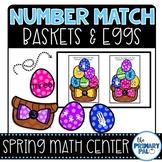 Spring Math Center: Number Match Baskets & Eggs