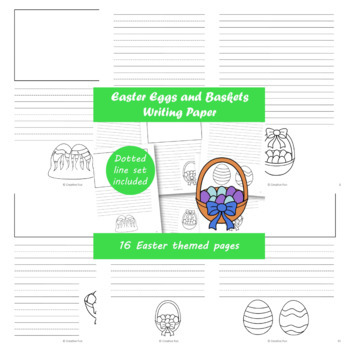 Easter Eggs and Baskets Writing Paper