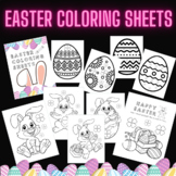 Easter Eggs and Bunny Printable Coloring Sheets