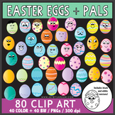Easter Eggs and Pals Clip Art