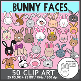 Bunny Faces Clip Art
