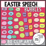 Easter Speech Bubbles Clip Art