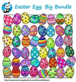 Easter Eggs  clipart. Big Bundle.