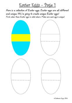 Easter Eggs for Fine Motor Skills and Handwriting Develpment