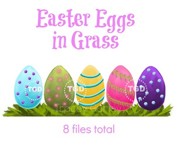 Easter Eggs in Grass - Easter Eggs and Grass Printable Tracey Gurley Designs
