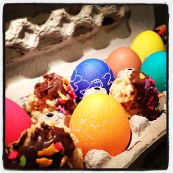 Easter Eggs in a Carton IMAGE