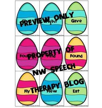 Speech Therapy: Eggscellent Irregular Verbs