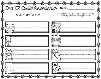 Easter Eggstravaganza (25 Math & Literacy Centers + Word Wall Cards)
