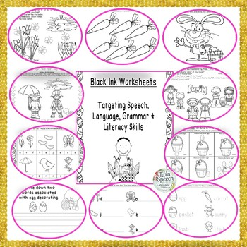 Easter Eggstravaganza: Concepts, Speech, Language, & Literacy Packet