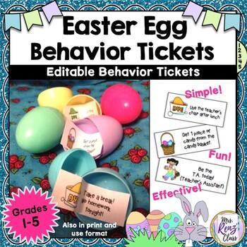 Easter Egg Behavior Incentive to Spark Up Your Behavior Program in the Spring!
