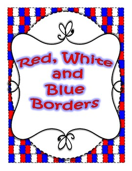 Red, White, and Blue Borders (Free)