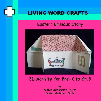 Easter Emmaus Story 3D Activity for Pre-K to Gr.3