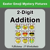Easter Emoji: 2-digit Addition - Color-By-Number Math Mystery Pictures