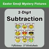Easter Emoji: 2-digit Subtraction - Color-By-Number Myster