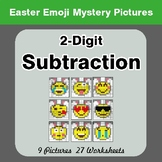 Easter Emoji: 2-digit Subtraction - Color-By-Number Myster