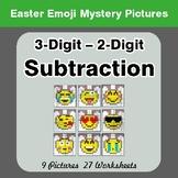Easter Emoji: 3-digit - 2-digit Subtraction - Color-By-Num