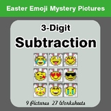Easter Emoji: 3-digit Subtraction - Color-By-Number Myster