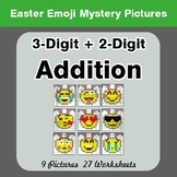 Easter Emoji: Adding Three 2-digit Addition - Color-By-Number Mystery Pictures