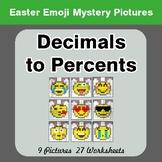Easter Emoji: Decimals to Percents - Color-By-Number Myste