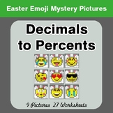 Easter Emoji: Decimals to Percents - Color-By-Number Myste