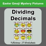 Easter Emoji: Dividing Decimals - Color-By-Number Mystery