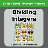 Easter Emoji: Dividing Integers - Color-By-Number Mystery