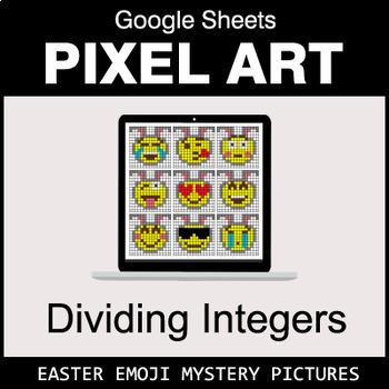Easter Emoji - Dividing Integers - Google Sheets Pixel Art