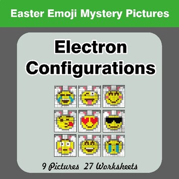Easter Emoji: Electron Configurations - Mystery Pictures