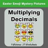 Easter Emoji: Multiplying Decimals - Color-By-Number Myste