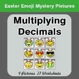 Easter Emoji: Multiplying Decimals - Color-By-Number Myste
