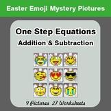 Easter Emoji: One Step Equation Addition & Subtraction - M