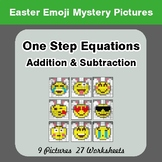 Easter Emoji: One Step Equation Addition & Subtraction - M