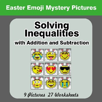 Easter Emoji: One-Step Inequalities with Addition & Subtraction - Color By Code