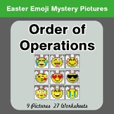 Easter Emoji: Order Of Operations - Color-By-Number Myster