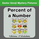 Easter Emoji: Percent of a number - Color-By-Number Myster