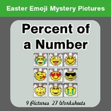 Easter Emoji: Percent of a number - Color-By-Number Myster