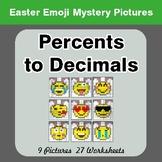 Easter Emoji: Percents to Decimals - Color-By-Number Myste
