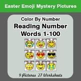 Easter Emoji: Reading Number Words 1-100 - Color By Number