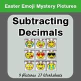 Easter Emoji: Subtracting Decimals - Color-By-Number Myste